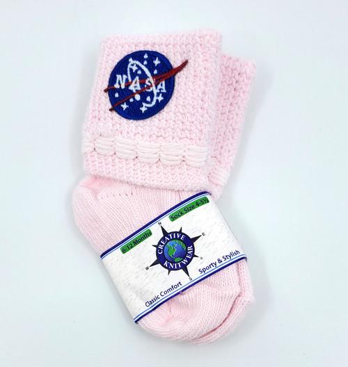 NASA Meatball Logo - Baby Bootie