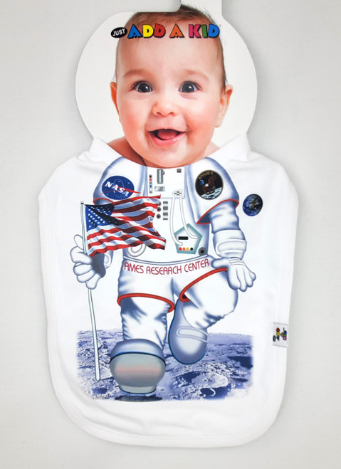 NASA Ames Research Center - Space Themed Baby Bib by Add-A-Kid