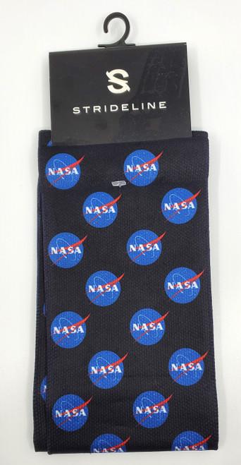 NASA Meatball Logo -  Black Socks by Strideline