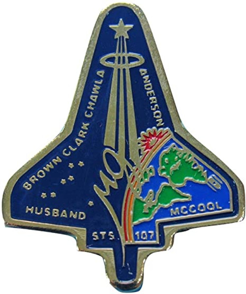 Space Shuttle STS-107 Mission Pin