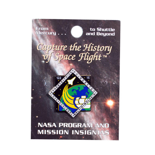 Space Shuttle STS-122 Mission Pin