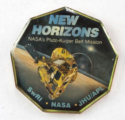 Horizon Pluto Mission Pin