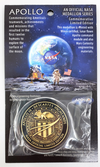 Apollo 16 Carded Medallion