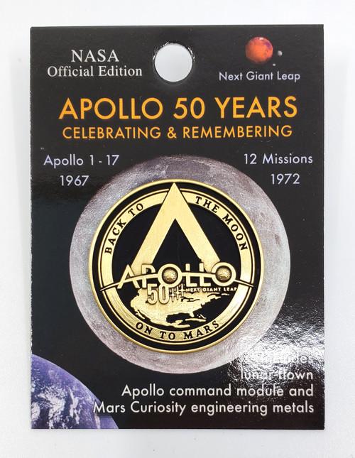 NASA Apollo 50th Logo Round Pin