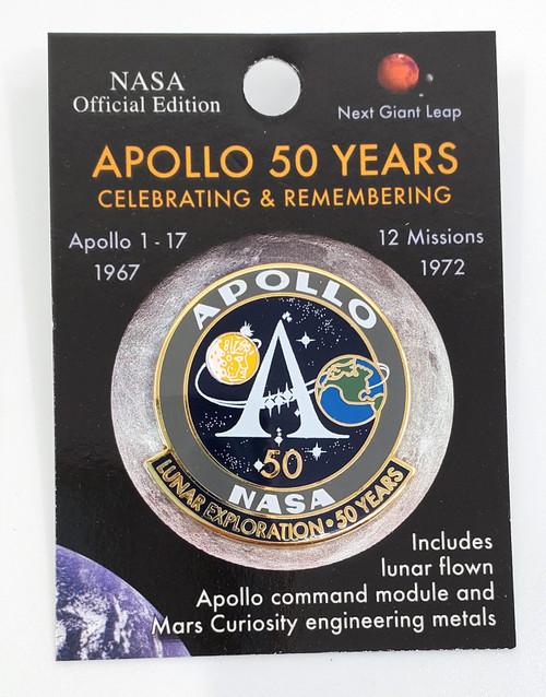 NASA Apollo Program 50th Anniversary Pin