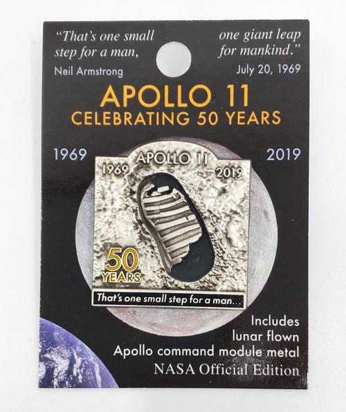 NASA Apollo 11 50th Bootprint Pin