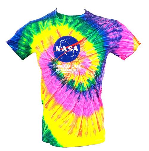 NASA Meatball Logo - Armstrong Tie Dye Adult T-Shirt