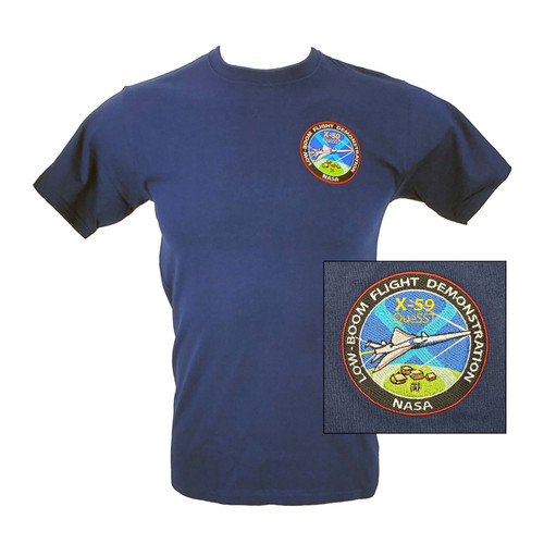 NASA X-59 Quesst Embroidered T-Shirt