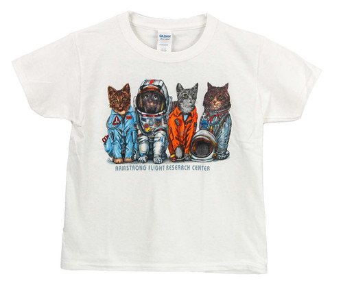 NASA Armstrong Youth Space Cat T-Shirt