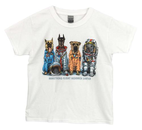 NASA Armstrong Youth Space Dog T-Shirt