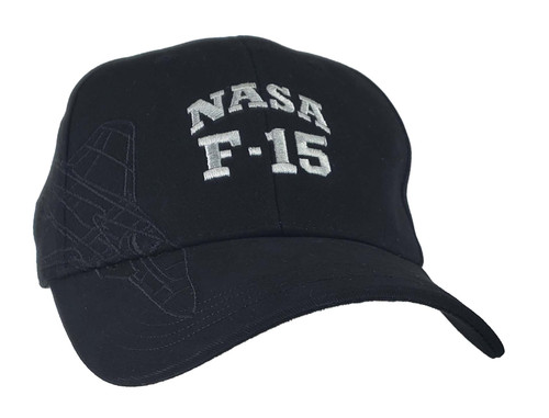 NASA F-15 Dual Logo Black Hat