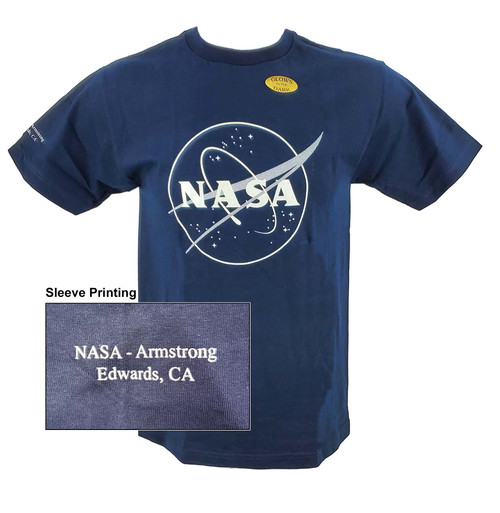 NASA Meatball Logo - Armstrong Glow in the Dark Outline Adult T-Shirt
