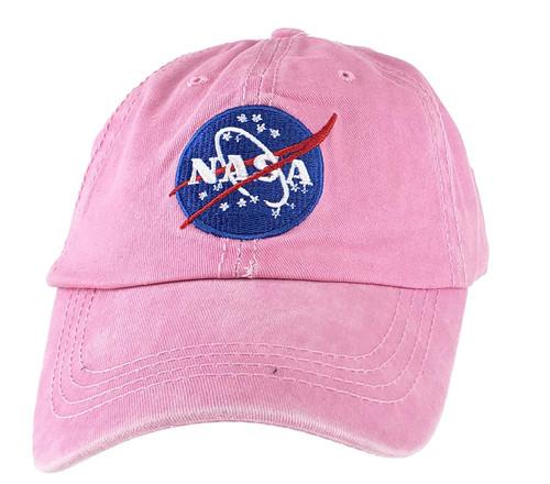 NASA Meatball Logo - Stone Washed Adjustable Hat