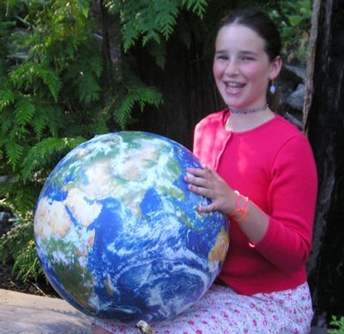 """Inflatable 16"""" Planet Earth Globe"""