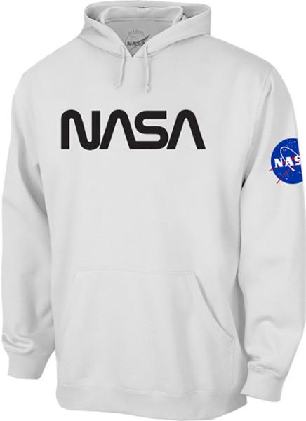 NASA Worm Logo - Black - Adult Hoodie