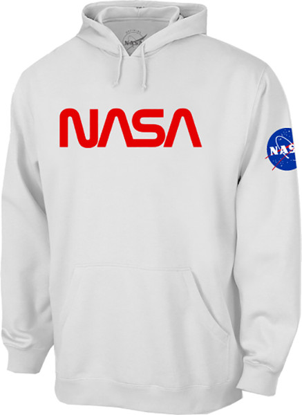 NASA Worm Logo - Red - Adult Hoodie