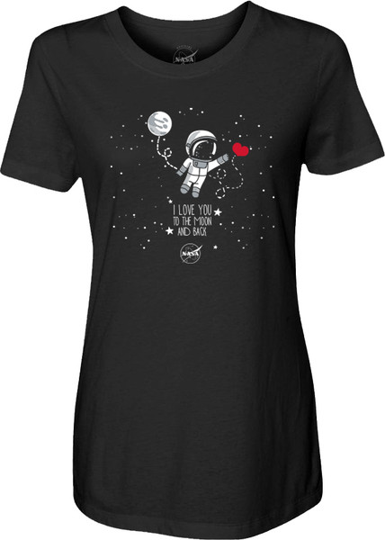 NASA Meatball Logo - To The Moon and Back Ladies T-Shirt