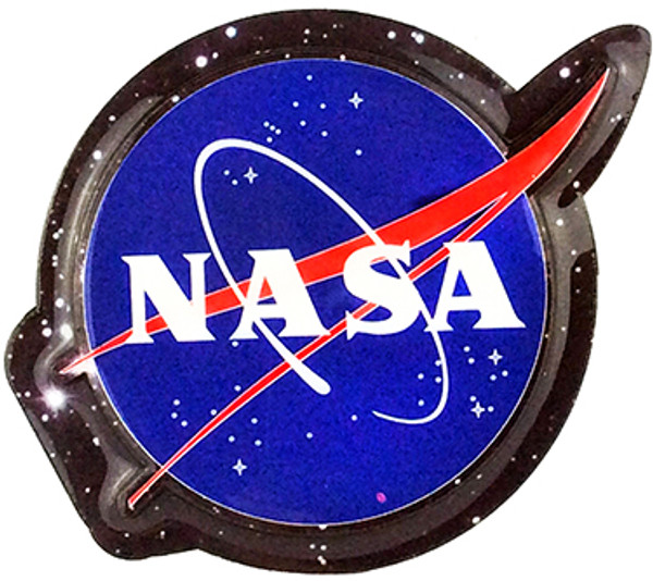 NASA Meatball Logo Wooden Magnet