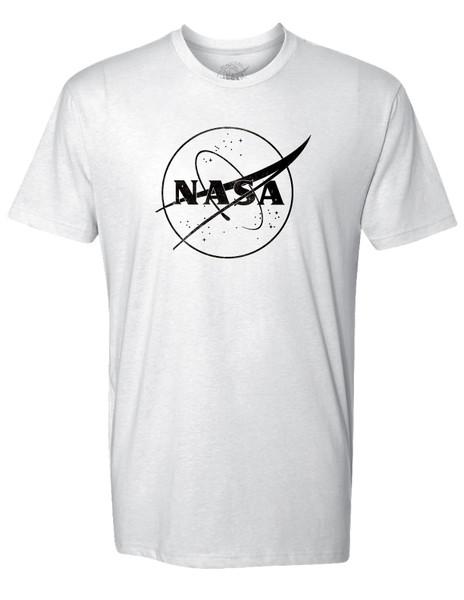 NASA Meatball Logo - Black Outline - Adult T-Shirt