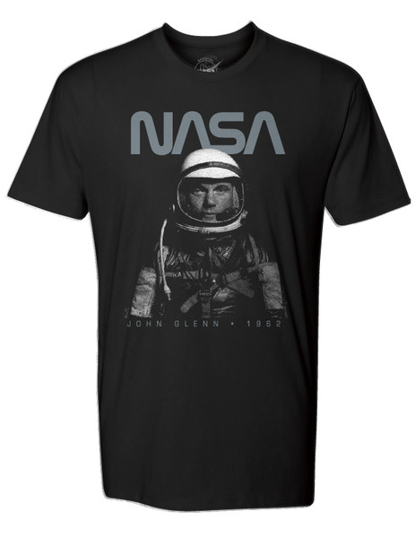 NASA Worm Logo - John Glen Tribute Adult T-Shirt