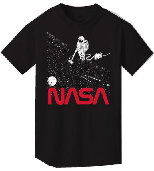 NASA Worm Logo - Vacuuming Stars Youth T-Shirt