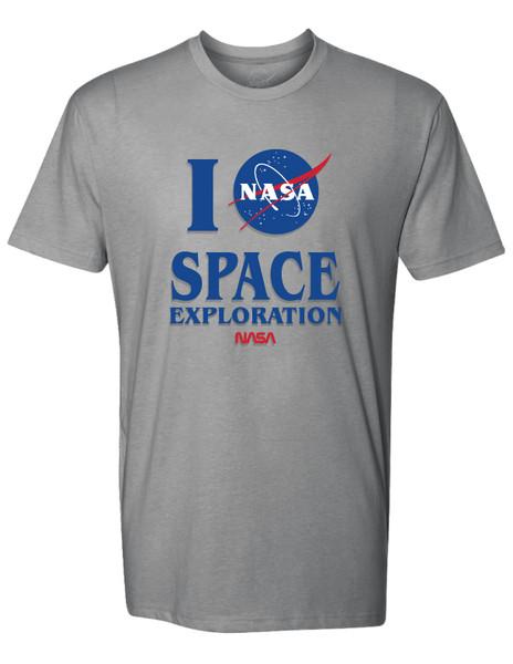 NASA Meatball Logo - I NASA Space Exploration Adult T-Shirt