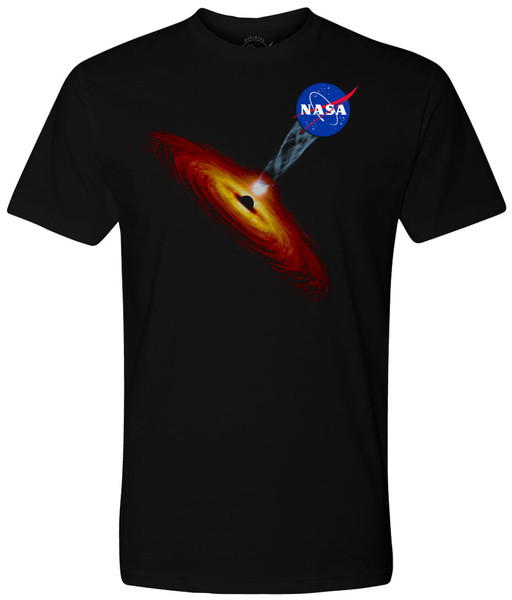 NASA Meatball Logo - Black Hole Art Adult T-Shirt
