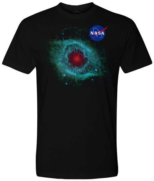 NASA Meatball Logo - Dusty Eye of Helix Nebula (NGC 7293) Adult T-Shirt