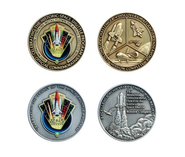 Space Shuttle Colorized Medallion