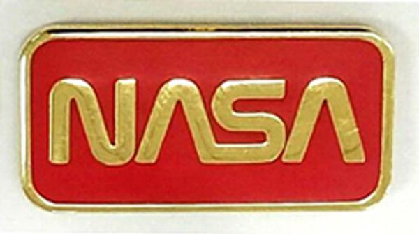 NASA Worm Logo Traditional Pin