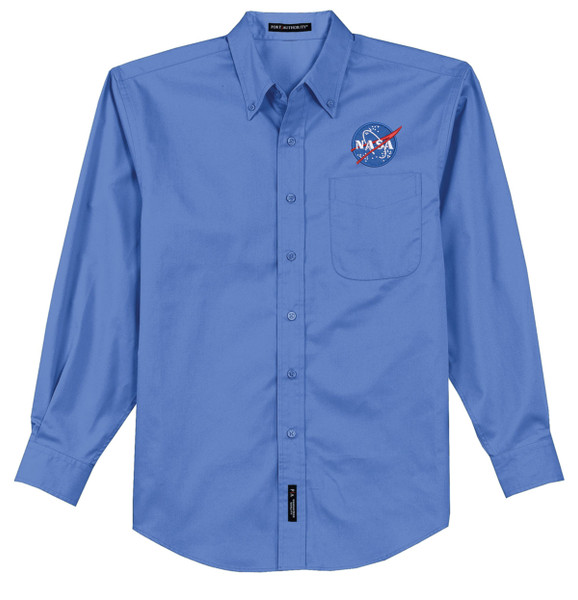 NASA Meatball Logo - Men's Long Sleeve Dress Shirt