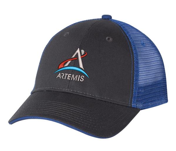NASA Artemis Logo -  Black And Blue Trucker Hat