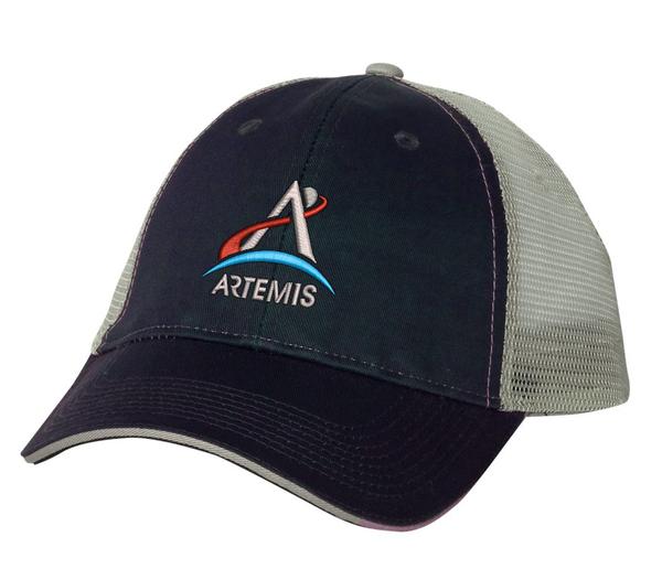 NASA Artemis Logo - Grey And Black Trucker Hat