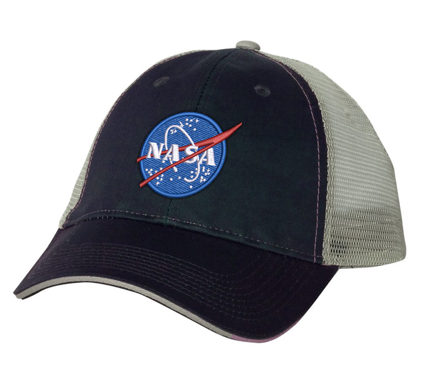 NASA Meatball Logo - Curved Bill Trucker Hat