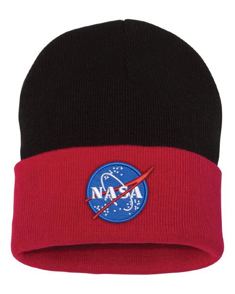 NASA Meatball Logo - Black And Red Beanie