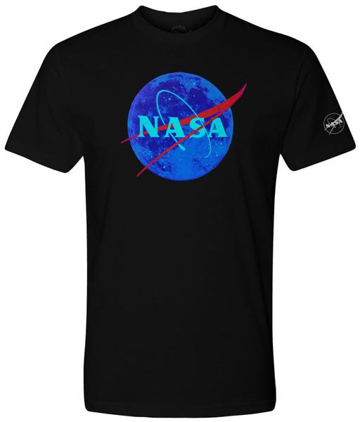 NASA Meatball Logo - Glow In The Dark Hidden Moon Adult T-Shirt