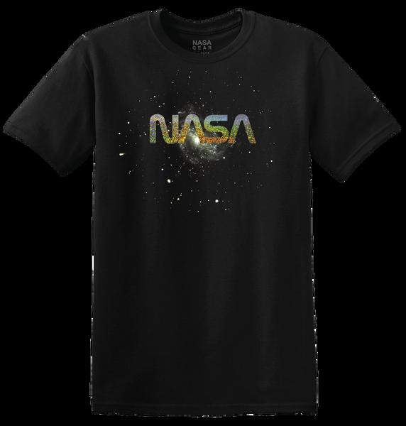NASA Worm Logo - Speckled Foil Adult T-Shirt