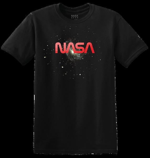 NASA Worm Logo - Red Foil Adult T-Shirt