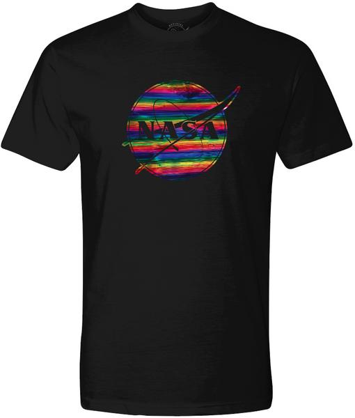 NASA Meatball Logo - Rainbow Foil Adult T-Shirt