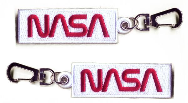 NASA Worm Logo - Embroidered Key Fob