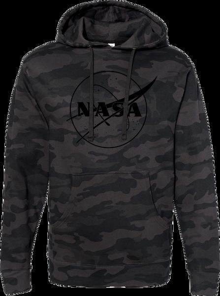 NASA Meatball Logo - Black Outline- Adult Hoodie