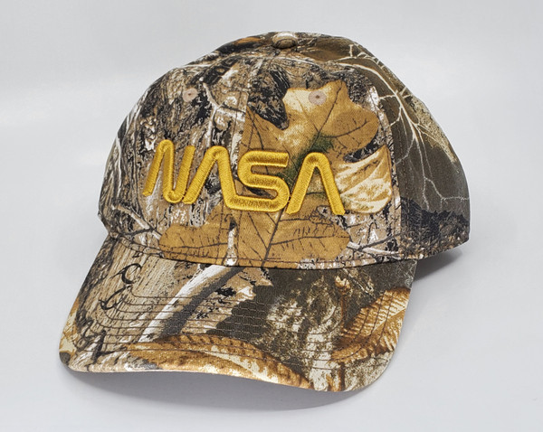 NASA Worm Logo - Relaxed Camo Hat