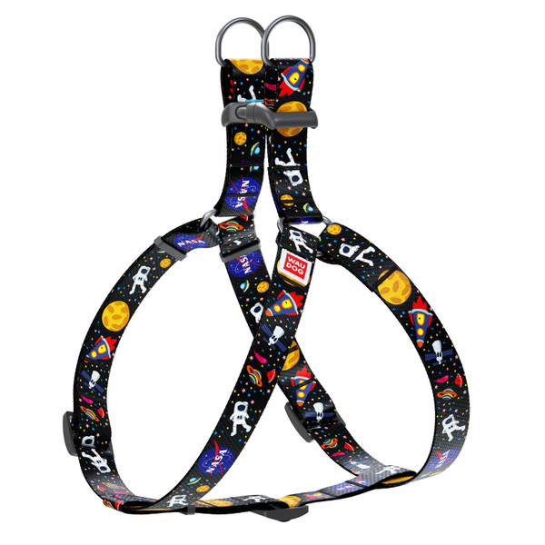 WAUDOG Nylon Pet Harness w/NASA Design and a Plastic Fastex Locking Buckle