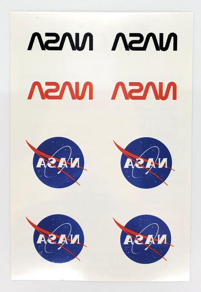 NASA Logo Temporary Tattoo Sheet