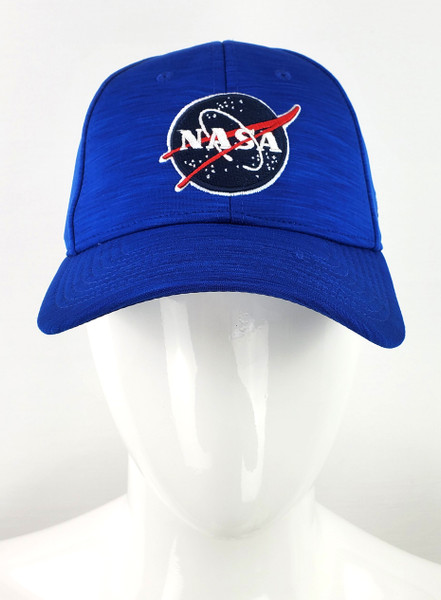 NASA Meatball Logo - Heather Royal Stretch Fit Hat