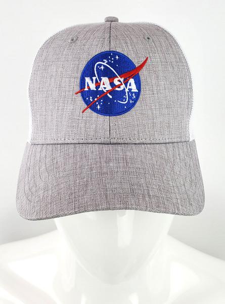 NASA Meatball Logo - Heather Grey  Trucker Hat