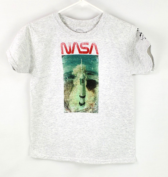 NASA Worm Logo - Vintage Take Off Youth Tee Shirt