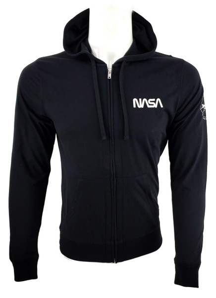 NASA Worm Logo - Lightweight Full Zip Unisex Hoodie
