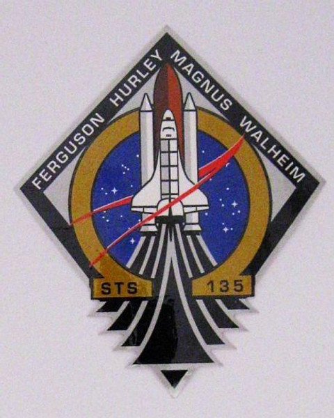 Space Shuttle STS-135 Mission Pin