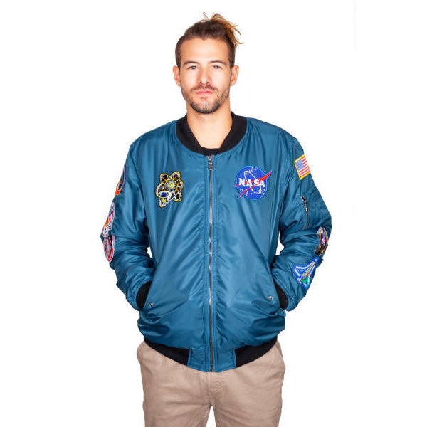Space Shuttle 8 Patch -  Adult Bomber Jacket